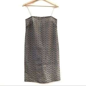 Max Mara Silver Lace Maxi Midi Dress Size 4